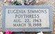 Profile photo:  Eugenia Leigh <I>Simmons</I> Poythress
