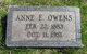 Anne E <I>Sellman</I> Owens