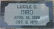 Annie Lucile <I>Clayson</I> Bird