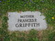 """Profile photo:  Frances """"Fanny"""" <I>Peters</I> Griffith"""