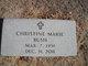 "Profile photo:  Christine Marie ""Chris"" Bush"