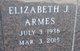 """Elizabeth Jean """"Liz"""" <I>Hill</I> Armes"""