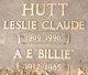 """Profile photo:  A E """"Billie"""" Hutt"""