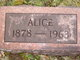 Alice <I>Bennett</I> Nunns