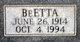 Profile photo:  BeEtta M <I>Taylor</I> Arnold