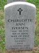 Charlotte Ann <I>Kemling</I> Iversen