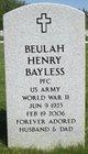 Profile photo:  Beulah Henry Bayless