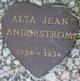 Profile photo:  Alta Jean Anderstrom