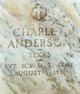 Profile photo:  Charlie Anderson