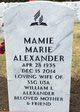 Profile photo:  Mamie Marie Alexander