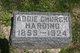 Profile photo:  Addie <I>Church</I> Harding