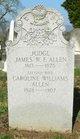 Judge James William Franklin Allen