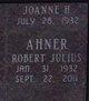 Profile photo:  Robert Julius Ahner