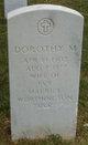 Dorothy M Worthington