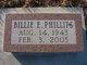 Profile photo:  Billie E. Phillips
