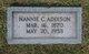 Profile photo:  Nannie Marion <I>Campbell</I> Addison