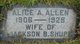 Profile photo:  Alice Alalee <I>Allen</I> Shupe