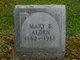 Mary <I>Bushnell</I> Alden