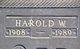 Harold Waite Braniger