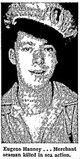 "Profile photo:  Ralph Eugene ""Gene"" Hanney"