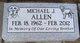 "Profile photo:  Michael John Thomas ""Mickey"" Allen"