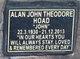 Profile photo:  Alan John Theodore Hoad