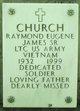 Raymond Eugene James Church, Sr