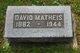 Profile photo:  David Matheis