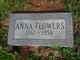 Anna <I>Garrett</I> Flowers