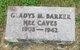 Gladys M. <I>Caves</I> Barker