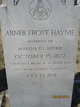 Profile photo:  Abner Frost Haynie