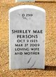 Shirley Mae <I>Williams</I> Persons