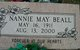 Nannie May <I>Means</I> Beall