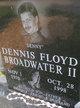 "Profile photo:  Dennis Floyd ""Denny"" Broadwater, II"
