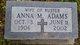 Profile photo:  Anna Marie <I>Hahn</I> Adams