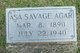 Profile photo:  Asa Savage Agar