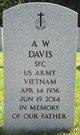 Profile photo:  A W Davis