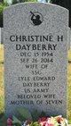Christine H Dayberry