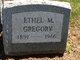 Profile photo:  Ethel M Gregory