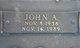 John A Edwards