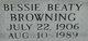 Bessie Mary <I>Beaty</I> Browning