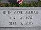 Profile photo:  Ruth <I>Case</I> Allman
