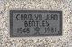 Carolyn Jean <I>Brodbeck</I> Bentley