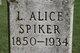 Laura Alice <I>Saum</I> Spiker