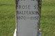 Rose F. <I>Spiker</I> Balderson
