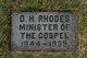 Rev Daniel H. Rhodes