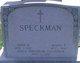 Profile photo:  John W. Speckman
