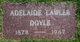 Profile photo:  Adelaide Lawler <I>Lawler</I> Doyle