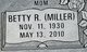 Profile photo:  Betty Ruth <I>Miller</I> Anderson
