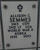 Profile photo:  Allison C Semmes